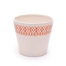 Ceramic Pot Tribal 5 in orange