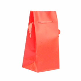 Vase bag  8x8x24.5cm with ribbon red