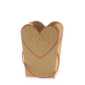Draagtas Love Collection 15/15x11/11x20cm FSC Mix rood