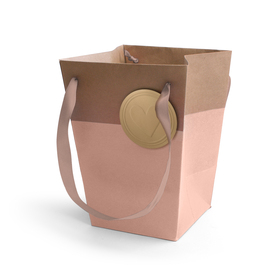Carrybag Sealed With Love 15/15x11/11x20cm pink