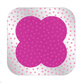 Dots Sheet 24x24in pink