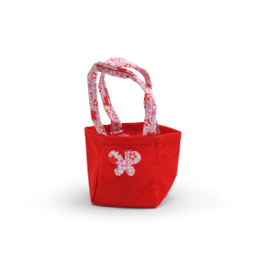 Carrybag Butterfly Felt 9.5x9x11cm red