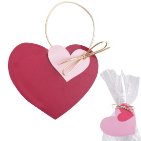 Deco Heart Love Gift 8cm red/pink