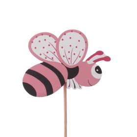 Summer Bee 7cm on 50cm stick pink