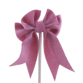 Bow Gabbana 3.5cm on 50cm stick pink