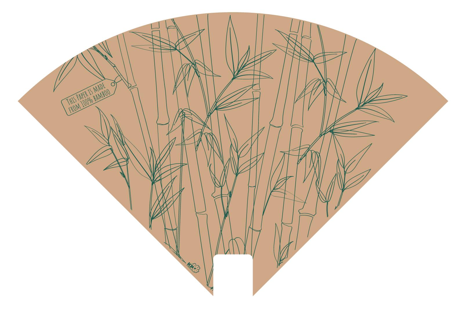 Bamboe sleeve 37x37cm