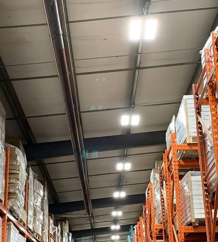 Led lights in warehouses